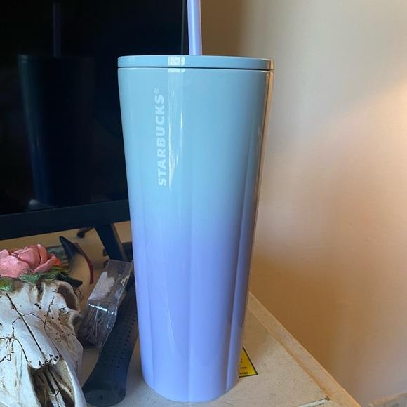 Starbucks stainless steel tumbler - blue/purple